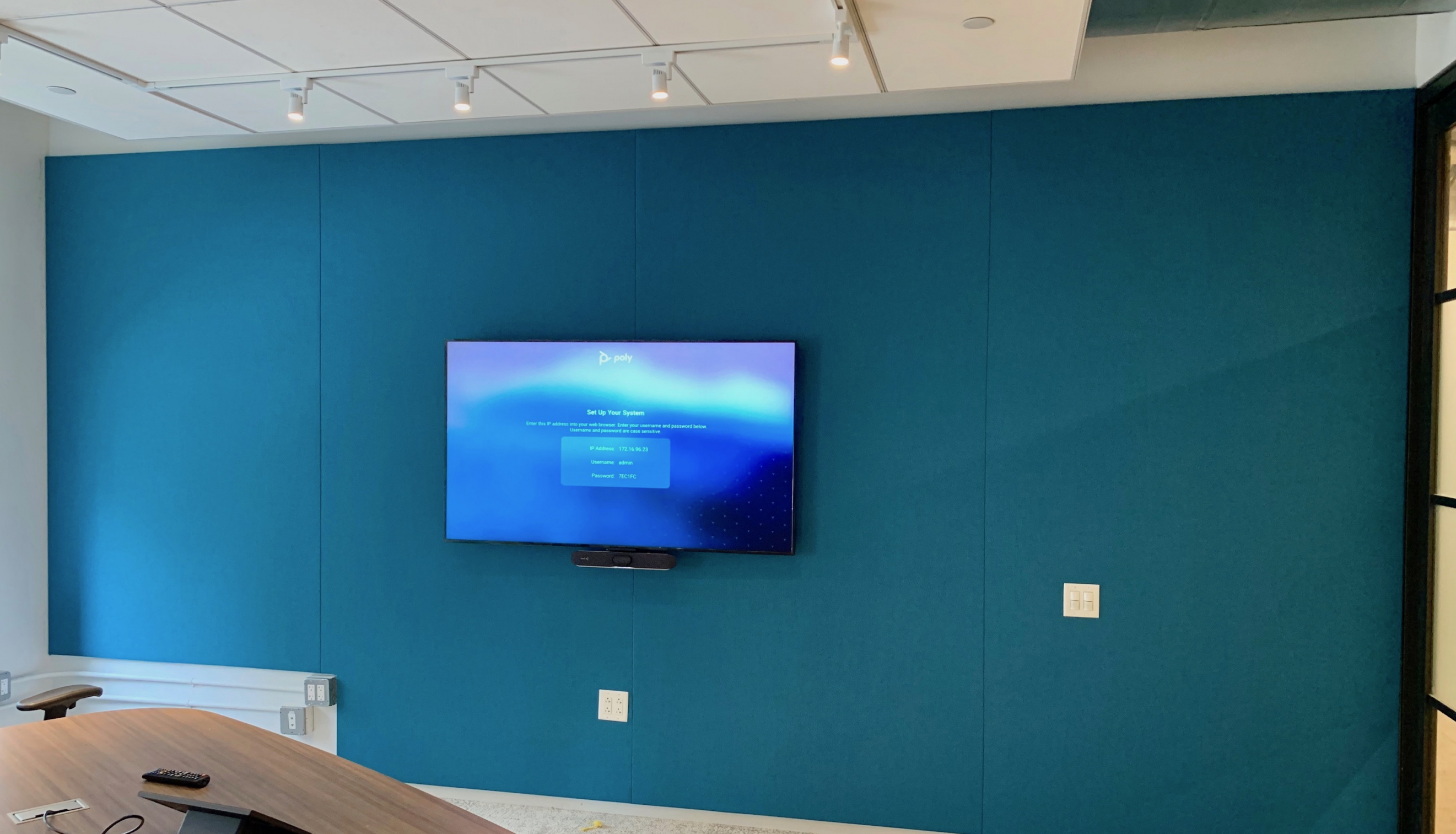 Felt Fabric Wall in Conference Room 1