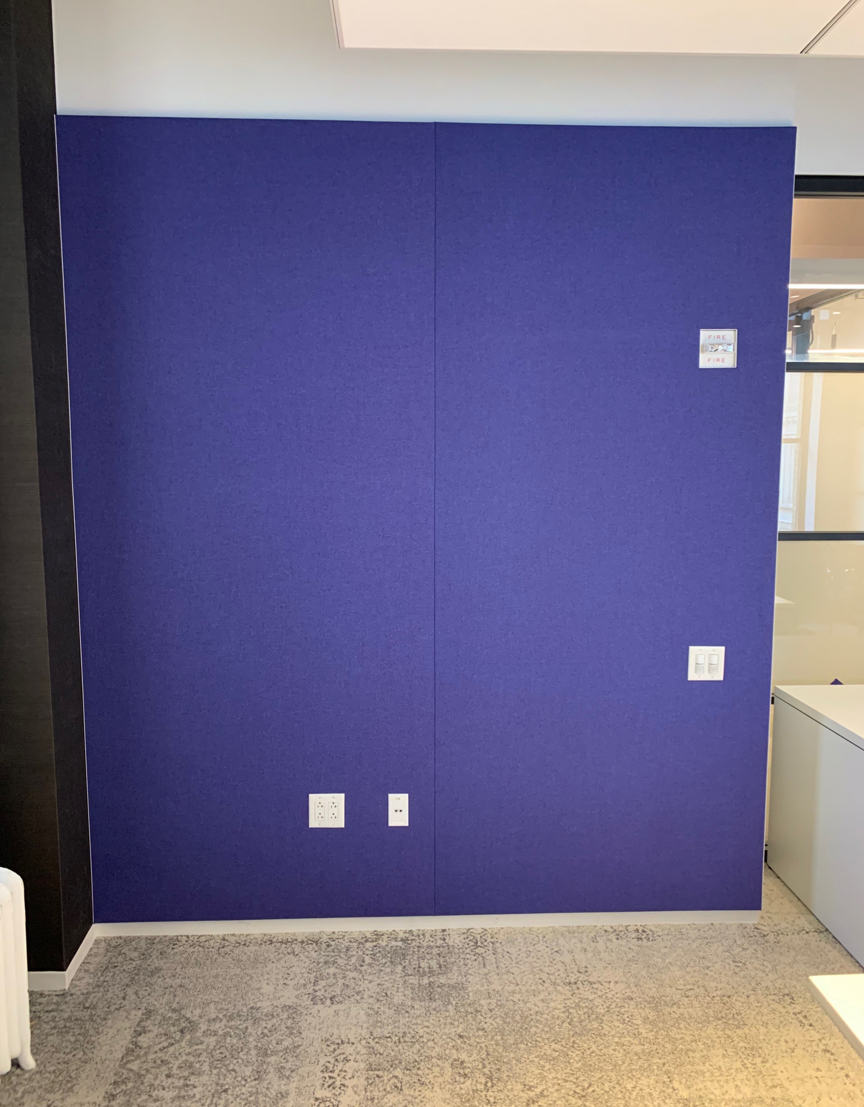 Felt Fabric Wall in Conference Room 2