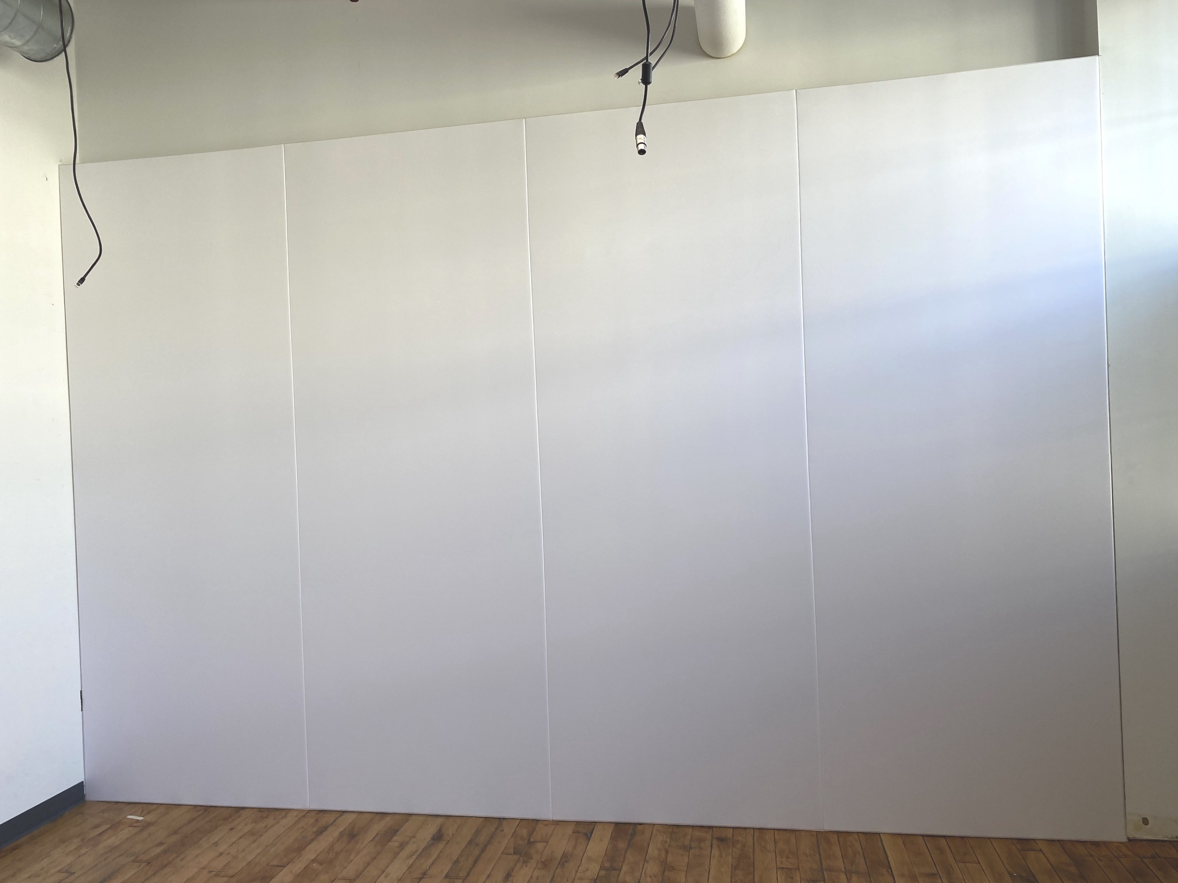 White Fabric Wall in Film Studio