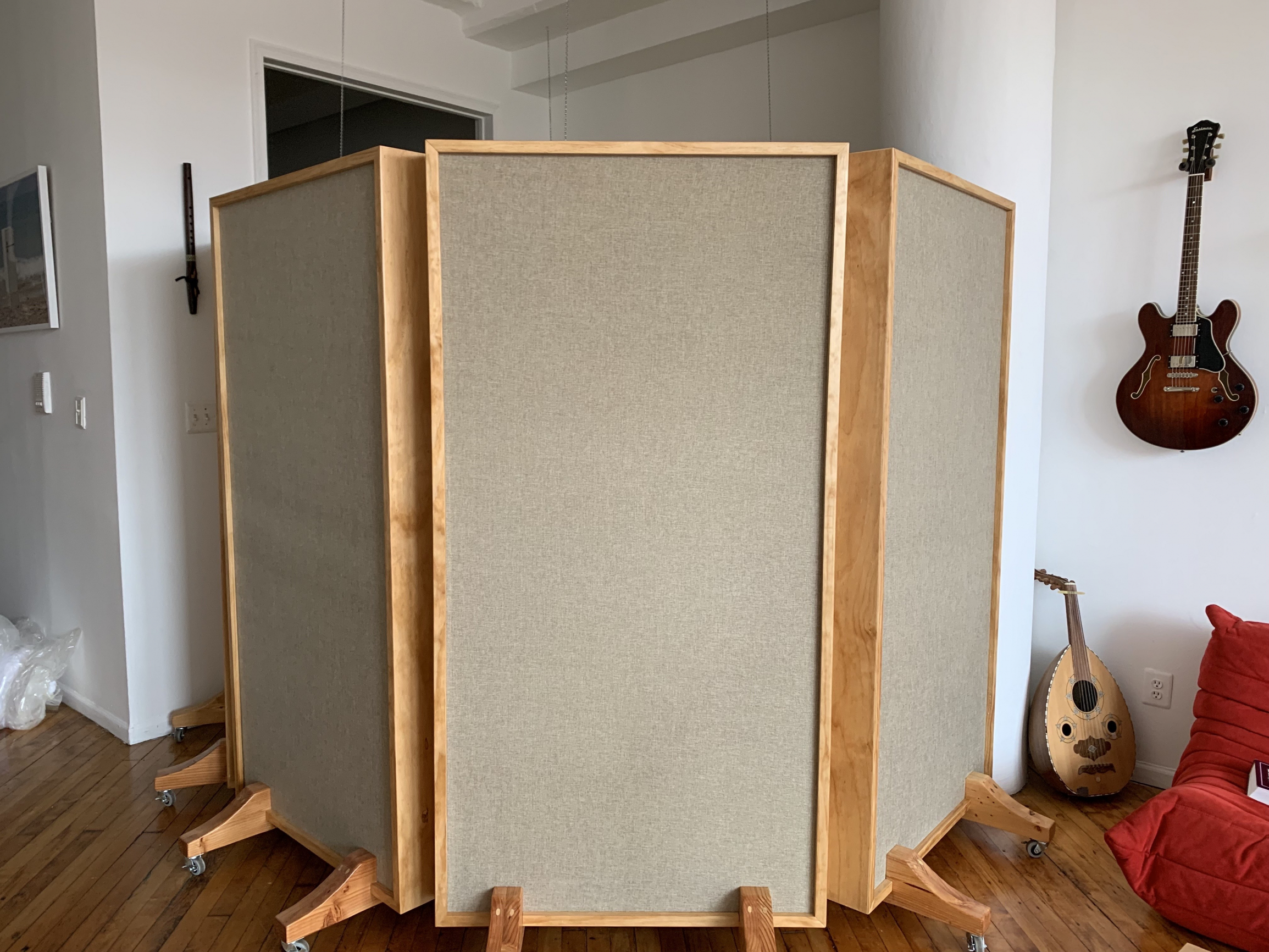 Free Standing Panels for Home Studio